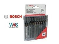 Bosch 10tlg. Stichsägeblatt Set für Holz Neu...