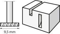 Bosch Hochgeschwindigkeits-Fräsmesser 9,5 mm
