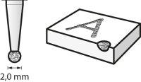 Bosch Diamantbestückter Fräser 2 mm