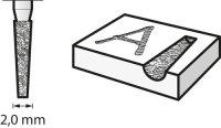 Bosch Diamantbestückter Fräser 2,0 mm
