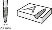 Bosch Diamantbestückter Fräser 2,4 mm