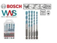 BOSCH 5 tlg. hex-9 Mehrzweck Bohrer Set Gr. 4/5/6/6/8...