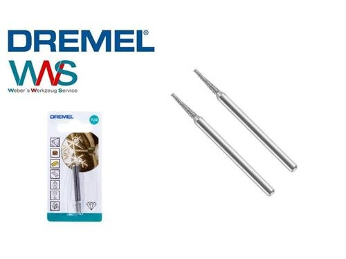 DREMEL 7134 2x Diamant bestückter Fräser kegelform 2,0mm NEU und OVP!!!