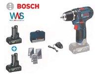 BOSCH Akku-Bohrschrauber GSR 12V-15 Professional + 2x...