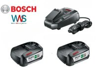 Bosch Starterset 2x Akku PBA 14,4V 2,5 Ah +...