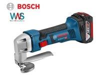 BOSCH Akku-Blechschere GSC 18V-16  inkl. 2x 6,0Ah Akkus +...